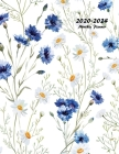 2020-2024 Monthly Planner: Large Five Year Planner with Flower Coloring Pages (Volume 1) Cover Image