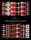 Red & Black Check.: Scrapbooking, Design and Craft Paper, 40 sheets, 12 designs, size 8.5