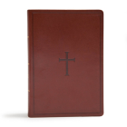CSB Super Giant Print Reference Bible, Brown LeatherTouch, Indexed Cover Image