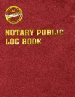 Notary Public Logbook: Notary Log Book, Notary Journal Cover Image