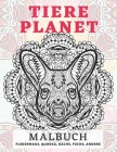 Tiere Planet - Malbuch - Fledermaus, Quokka, Dachs, Fuchs, andere Cover Image