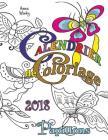 Calendrier de Coloriage 2018 Papillons Cover Image