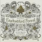 Enchanted Forest: An Inky Quest & Coloring Book Cover Image