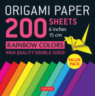 Origami Paper 200 Sheets Rainbow Colors 6 (15 CM): Tuttle Origami Paper: High-Quality Double Sided Origami Sheets Printed with 12 Different Designs (I Cover Image
