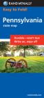 Rand McNally Easy to Fold: Pennsylvania (Laminated Fold Map) (Rand McNally Easyfinder) Cover Image