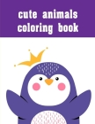 cute animals coloring book: coloring pages, Christmas Book for kids and children Cover Image