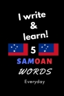 Notebook: I write and learn! 5 Samoan words everyday, 6