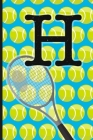 H: Tennis Monogram Initial Notebook for boys Letter H - 6