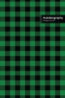 Autobiography Lifestyle Journal, Blank Write-in Notebook, Dotted Lines, Wide Ruled, Size (A5) 6 x 9 In (Green) Cover Image