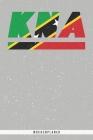 Kna: St. Kitts und Nevis Wochenplaner mit 106 Seiten in weiß. Organizer auch als Terminkalender, Kalender oder Planer mit d Cover Image
