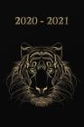 2020 - 2021: Schwarz Gold Tiger Cover - Wochenkalender für 2 Jahre - Kalender - Zielsetzung - Zeitmanagement - Produktivität - Term Cover Image