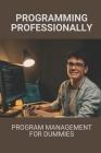 Programming Professionally: Program Management For Dummies: Guide To Programming Professionally Cover Image
