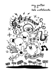 Guitar Tab Notebook: Pages for Lyrics and Music (Guitar version): Notebook for composition and songwriting, 8.5