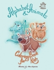 Alphabet & Animals coloring book for kids Cover Image