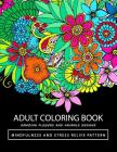 Adult Coloring Books: Amazing Flower and Animals Cover Image