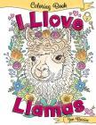 I Llove Llamas Coloring Book Cover Image