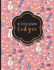 8 Column Ledger: Accountant Notepad, Accounting Paper, Ledger Notebook, Cute Winter Skiing Cover, 8.5