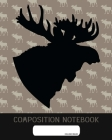 Composition Notebook: College Ruled - Mousse Elk - Back to School Composition Book for Teachers, Students, Kids and Teens - 120 Pages, 60 Sh Cover Image