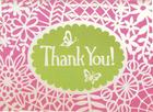 Flower Lace Glitz Thank You Notes Cover Image