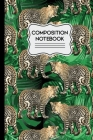 Composition Notebook: Jungle Leopards on Green Leaf Background Pattern 6