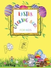 Coloring Book for Kids: Beautiful Drawings of Sweet Bunnies, Eggs and Alphabet Letters in Easter Theme. Study while having fun Cover Image