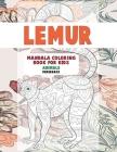Mandala Coloring Book for Kids Paperback - Animals - Lemur Cover Image