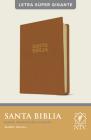 Santa Biblia Ntv, Letra Súper Gigante (Letra Roja, Sentipiel, Café Claro) Cover Image