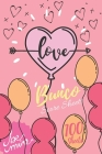 Love Bunco Score Sheets: 100 Bunco Score Sheets for Valentines, Bunco Score Cards for Bunco Lovers and Players, (Bunco Dice Game Book for Coupl Cover Image