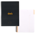 Rhodia 6 1/2 X 8 1/4 Black Wirebound Meeting Book Cover Image