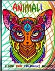 Animali Libro Per Colorare Adulti: 70Fantastici Animali con mandala da colorare. Ottimo passatempo per adulti, libro antistress per rilassarsi con bel Cover Image