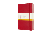 Moleskine Notebook, Expanded, Large, Ruled, Scarlet Red, Hard Cover (5 x 8.25) Cover Image