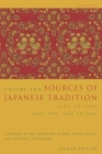 Sources of Japanese Tradition, Abridged: 1600 to 2000; Part 2: 1868 to 2000 (Introduction to Asian Civilizations #2) Cover Image