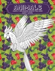 Adult Coloring Books for Men - Animals - Easy Level Cover Image
