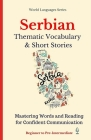 Serbian: Thematic Vocabulary and Short Stories Cover Image