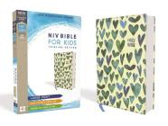 Niv, Bible for Kids, Large Print, Cloth Over Board, Teal, Red Letter, Comfort Print: Thinline Edition Cover Image