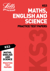 KS3 Maths, English and Science Practice Test Papers (Letts KS3 Revision Success) Cover Image