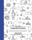 Composition Notebook College Ruled: Little Camper Notebook for Boys Girls Kids. Fishing & Camping Explorer Edition Cover Image