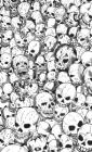 Gathering of Skulls Journal - Black and White Cover Image