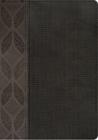 RVR 1960 Biblia Compacta Letra Grande, geométrico/twill gris símil piel Cover Image