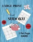 Large Print Sudoku 1 Per Page Hard Cover Image