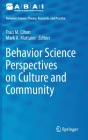 Behavior Science Perspectives on Culture and Community Cover Image