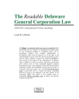 The Readable Delaware General Corporation Law: 2020-2021 with VisiLaw Markings Cover Image