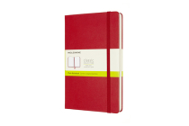 Moleskine Notebook, Expanded, Large, Plain, Scarlet Red, Hard Cover (5 x 8.25) Cover Image
