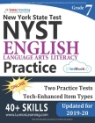 New York State Test Prep: Grade 7 English Language Arts Literacy (ELA) Practice Workbook and Full-length Online Assessments: NYST Study Guide Cover Image