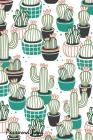Password Book: Include Alphabetical Index With Cactus Pots Seamless Pattern Cover Image
