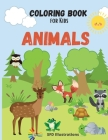 Coloring Book for Kids Animals: age 3-6 Cover Image