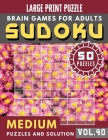 Sudoku Medium: suduko puzzle books for adults large print - Full Page SUDOKU Maths Book to Challenge Your Brain Large Print (Sudoku B Cover Image