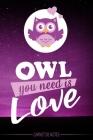 Owl you need is love - Carnet de Notes - Hibou mignon dans la nuit - cahier - livre chouette - Pour les notes (vacances - souvenir - études) vos dessi Cover Image