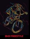 BMX Freestyle: cahier de note noir avec esquisse vélo BMX Cover Image