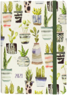 2021 Watercolor Succulents Weekly Planner Cover Image